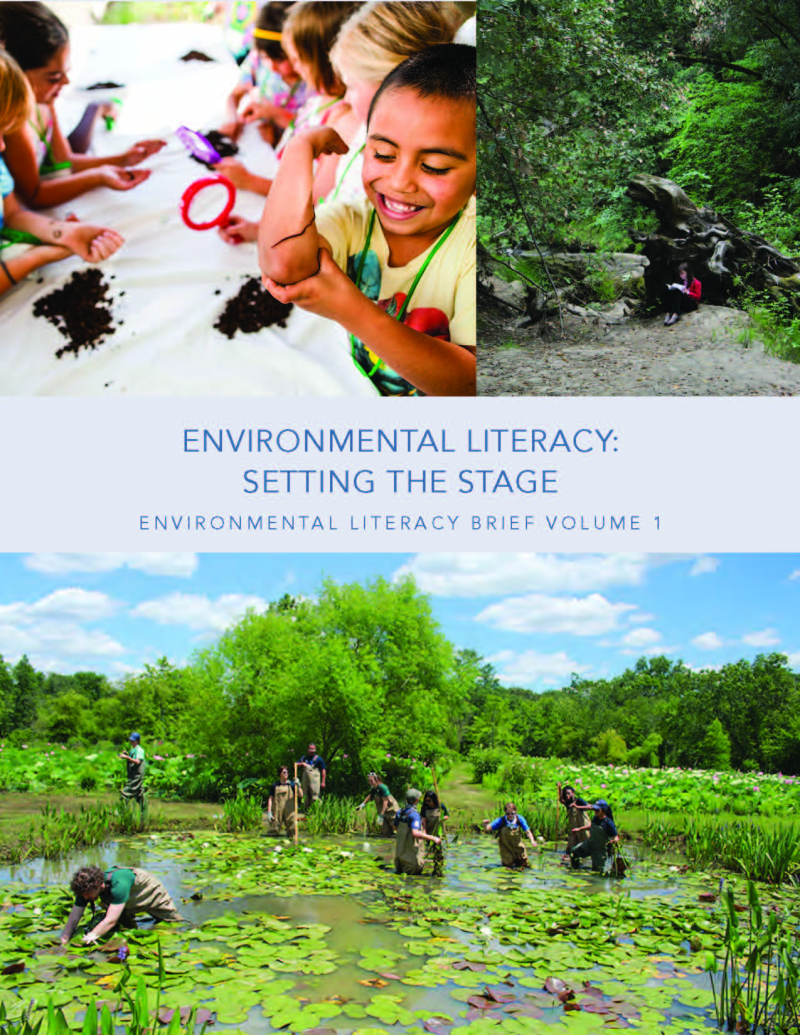 Cover of first environmental literacy brief