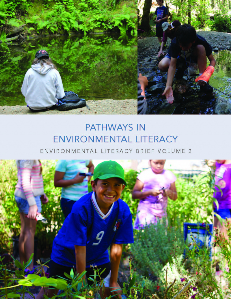 Cover of second environmental literacy brief