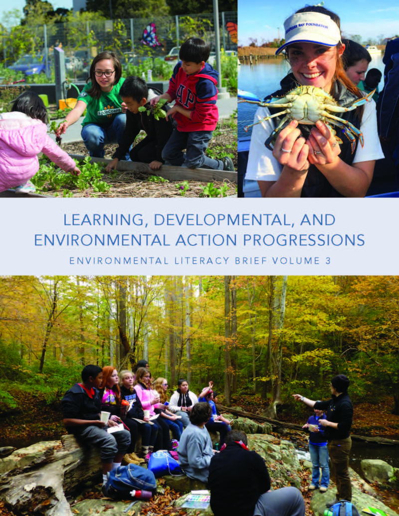 Cover of third environmental literacy brief