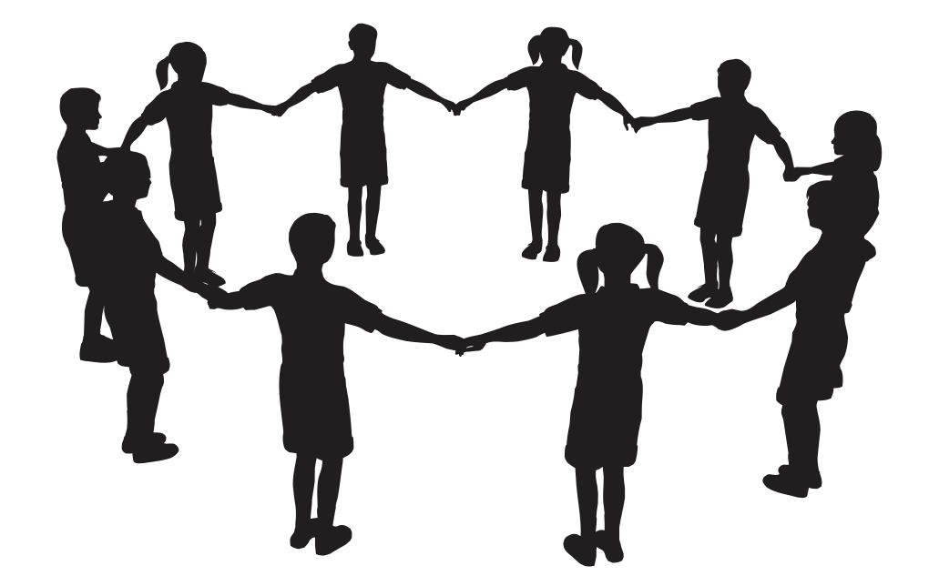 Image of kids holding hands in a circle