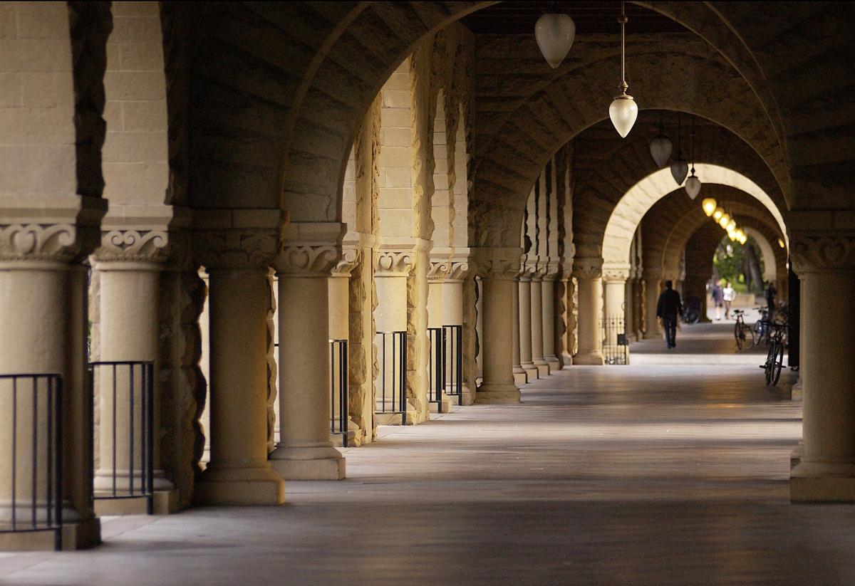 Photo of corridor in Stanford quad