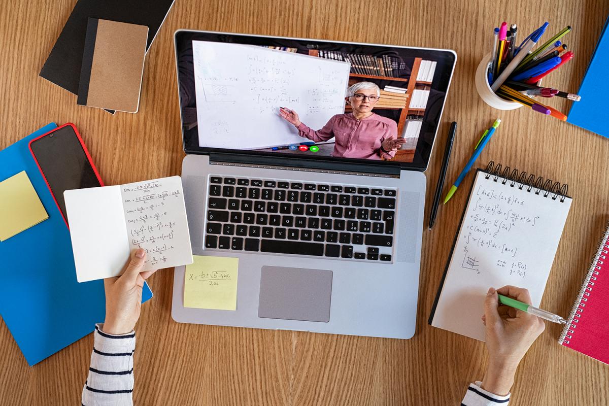 Photo of remote learning setup