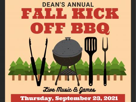 Fall Kick Off BBQ 2021 digital poster