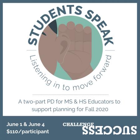 Students Speak PD event