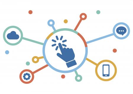 Illustration of digital media concept