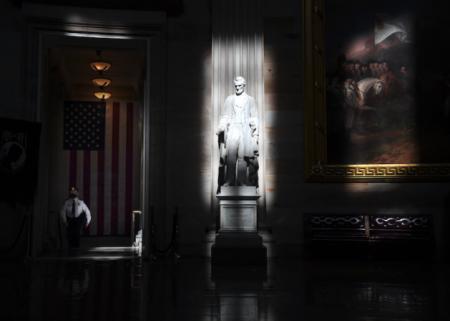 U.S. Capitol rotunda statue of Abraham Lincoln