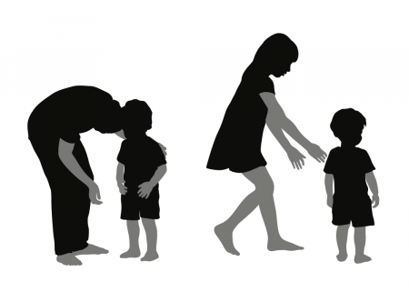 Image of parents and young kids