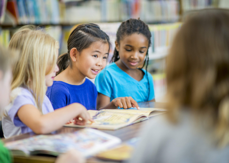 Photo of kids reading
