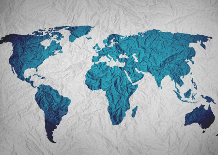 Illustration of a map of the world