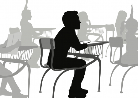 Illustration of child in a classroom