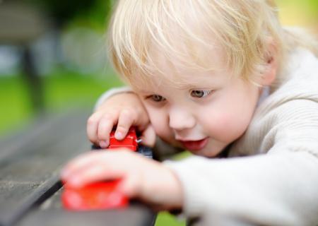 preschooler playing independently