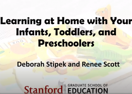 Title slide from Learning at Home with Your Infants, Toddlers, and Preschoolers