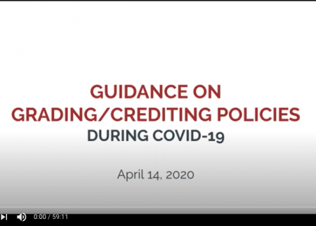 First frame of webinar recording on grading and crediting