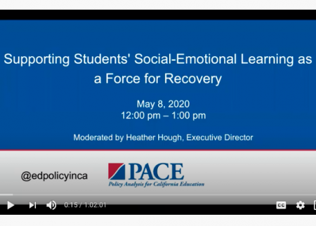 Opening slide for the PACE webinar on supporting social-emotional learning