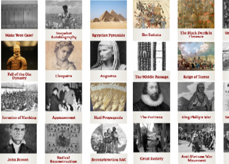 A sampling of history lessons available for download at the SHEG website
