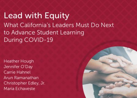 Policy brief cover for Lead with Equity