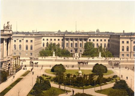 Archival photo of university in Berlin