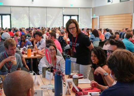 Melissa Scheve at a Hollyhock Fellowship workshop