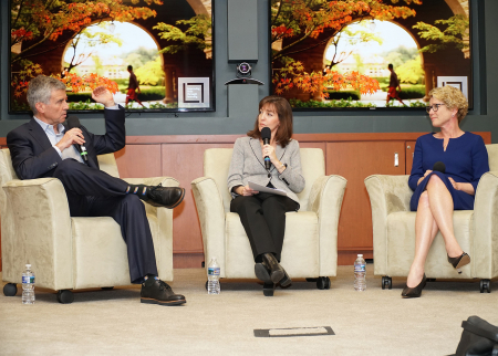 Dan Schwartz, Denise Pope, and U.S. Rep. Chrissy Houlahan