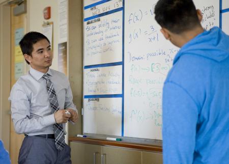 High school teacher Hai Tran, a former Knowles fellow