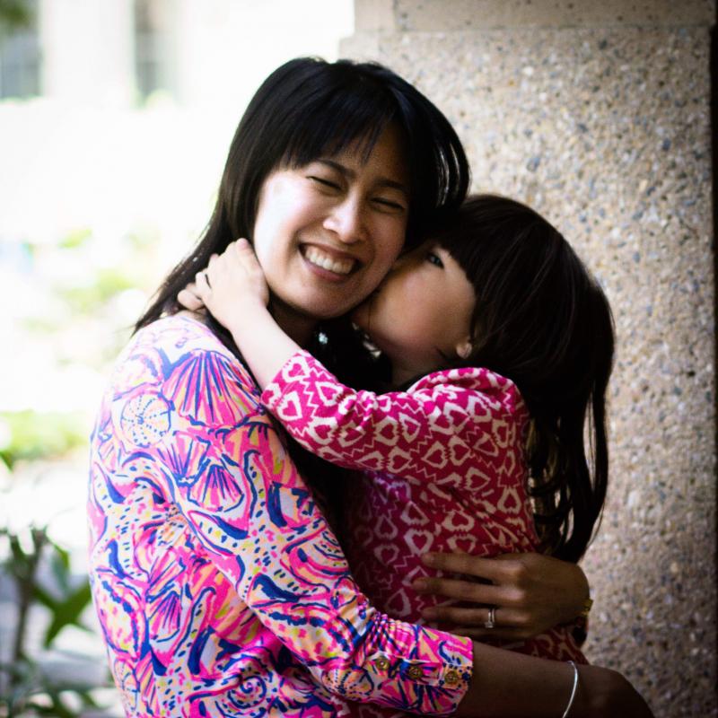 Photo of  Tina Cheuk and her daughter