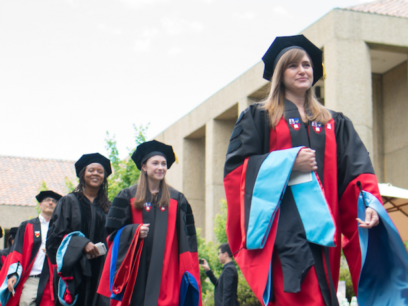 Photo of happy students during commencement