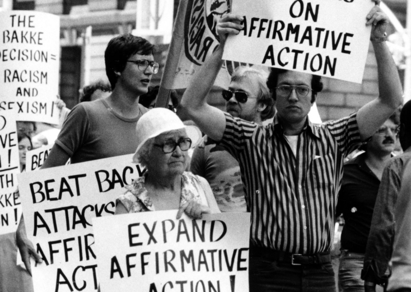Photo of an affirmative action protest