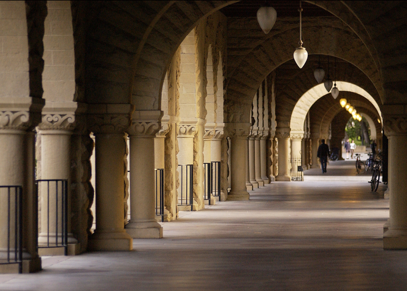 Photo of corridor in Stanford quad