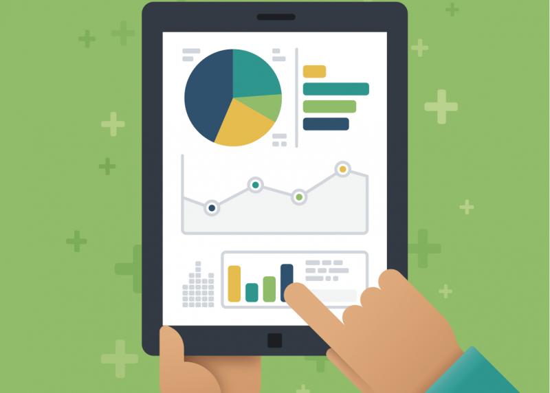 Image of data on an iPad