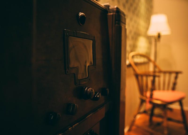 Photo of 1930s radio