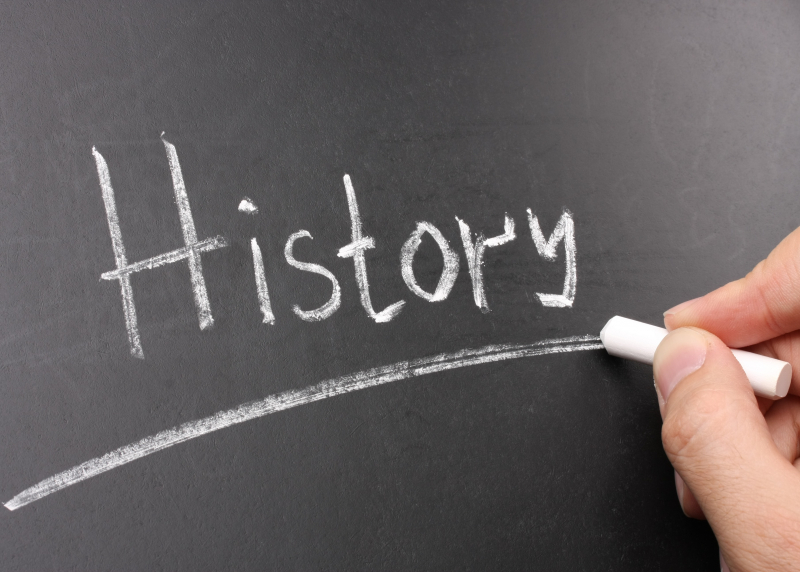 """Image of the word """"HISTORY"""" on a chalkboard"""