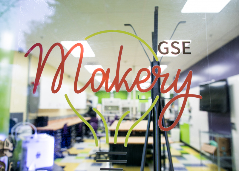 "Door sign saying ""GSE Makery"""