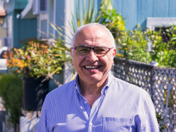 Professor Amado Padilla has done several surveys of residents at Buena Vista Mobile Home Park. (Photo: Marc Franklin)