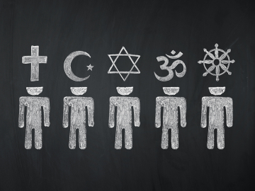 illustration of different religions