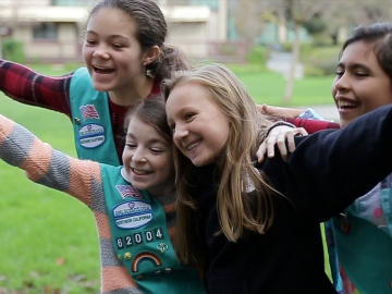 Girl Scouts from California participated in an energy saving course developed with Stanford. (Photo: GLEE)