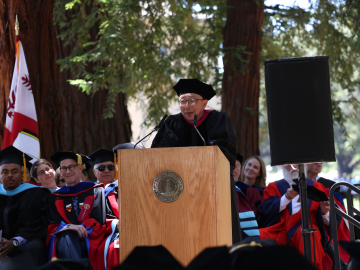 Professor Kenji Hakuta told graduates that education is,