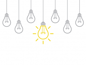 illustration of lightbulbs