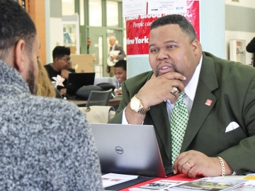 Michael Baston, vice president for student affairs and associate provost at LaGuardia Community College in New York, is one of 40 aspiring leaders selected for the Aspen Presidential Fellowship. (Photo courtesy of LaGuardia Community College)