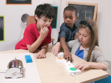 Project Bloks aims to help kids learn to code with hands-on experiences. (Photo: Emily Clarke/Google)