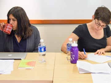 A recent Faculty Writers' Retreat offered assistant professors Marilia Librandi-Rocha and Sarah Levine an opportunity for uninte