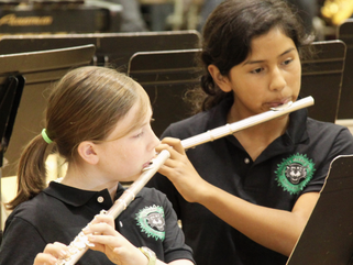 The foundation supports the district's middle school music program. (Photo: RCEF website)