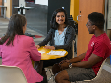 Sonia Doshi, an MA graduate, is now an analyst with edtech startup. (Photo: Steve Castillo)