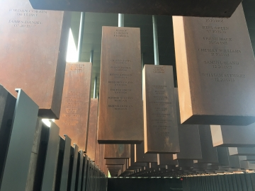 The National Memorial for Peace and Justice commemorates the lives of nearly 4,400 black Americans. (Photo: Shawn Calhoun)
